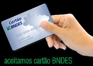A Jacobucci aceita o cartão BNDES como forma de pagamento