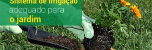 Sistema de irrigação para o jardim
