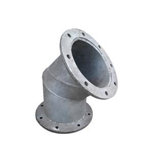 Curva de ferro galvanizado 45º x 6'' flangeada
